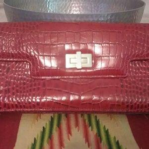Antonio Melani red clutch bag